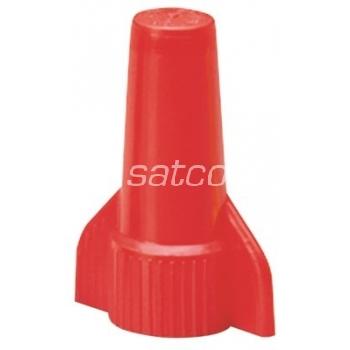 Kiirühendus keeratav punane 2x2-4x5,25mm² pakk 100 tk