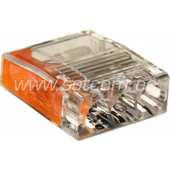 Kiirklemm MINI 3-le 0,5-2,5 mm² juhtmele, 5tk pakendis