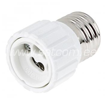 Pirnipesa adapter E27-GU10 pakendis