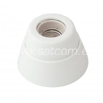 Pirnipesa plastik E27 pindpaigaldatav valge pakendis