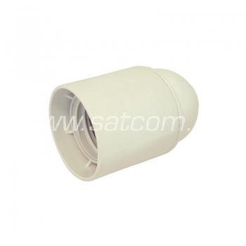 Pirnipesa plastik E27 valge
