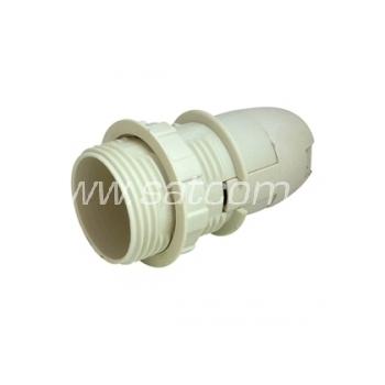 Pirnipesa plastik E14 keerme ja rõngaga valge
