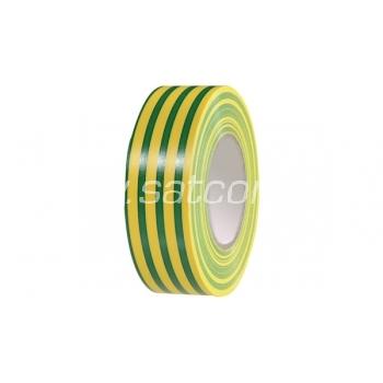 Elektriku teip 10m kollane-roheline