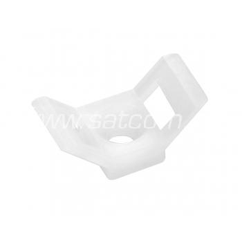 Kaablisideme alus kandiline  15x30x9 mm, valge, 100 tk