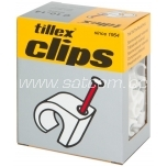 Cable clip 3-5 mm white 100 pc in box Tillex