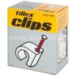 Cable clip 7-10 mm white 100 pc in box Tillex