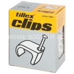 Cable clip for flat cable (2x0,75mm) 3x5mm white 20 pc in package Tillex