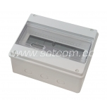 Fuse-box surface-mount for 10+1 modules, IP55