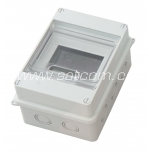 Fuse-box surface-mount for 4+1 modules, IP56
