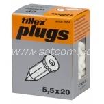 Nail plug white 100 pc in box Tillex