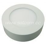 LED downlight 6W, 3000K, 450lm, surface mount