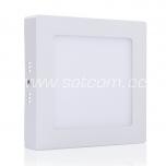 LED downlight 12W, 3000K, 900lm, square shape, surface mount