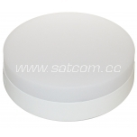 LED downlight 12W, 3000K, 900lm, with diffuser, surface mount