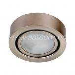 Furniture light surface mount satin-chrome