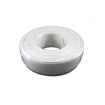 Telephone cable, flat 1x4x0,5 mm white