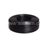 Telephone cable, flat 1x4x0,5 mm black