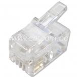 RJ11 plug 2 pc packaged