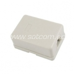 Telephone wall outlet, surface mount 1 x RJ11 white