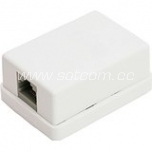 Computer wall outlet, surface mount 1 x RJ45 white