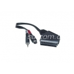 Scart - S-VHS + 3,5mm connection cable 1,5 m