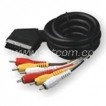 Scart - 6 RCA connection cable