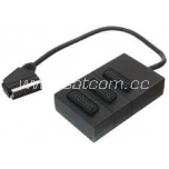 Scart 3-way splitter with cable