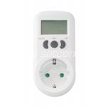 Energy meter for socket earthed (kW + 1 tariff)