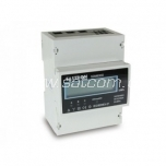 Energy meter, 3 poles for DIN rail with LCD display