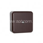 Junction box IP20 60x60x29 mm brown