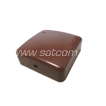 Junction box IP20 80x80x29 mm brown