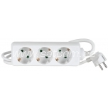 Extension cord 3 sockets 5m with child lock 3G1,5mm² 16A white