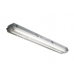 Fluorescent fixture for LED tubes max. 2x58W IP65 no ballast