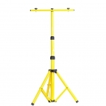 Tripod stand for 2 floodlights with powercord and cables, max. height 1,6m