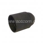 Lamp holder plastic E27 black packaged