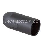 Lamp holder plastic E14 black  packaged