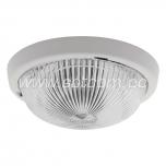 Plafond round, clear glass, round-profile E27 100W IP44
