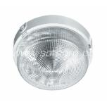 Plafond round, clear glass, square-profile E27 100W IP45