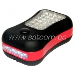 LED work light 24 LED small, with hook and magnet (betteries not included)