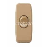 Cord switch for hand, golden brown packaged