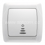 Switch push-button illuminated Carmen
