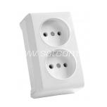 Socket double Vera white