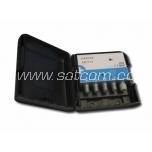 Mast amplifier UHF/FM, 40dB, 24V, LTE free, 2 outputs