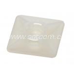 Kaablisideme alus kandiline kleebisega 27x27x4,5 mm,valge, 100 tk