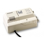 Inline amplifier 25dB, 2 outputs, 24V feed