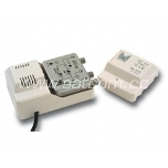 Inline amplifier 25dB, 2 outputs, 12V feed