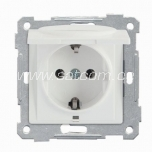 Socket earthed with lid Daria packaged