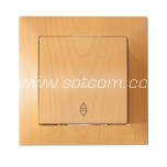 Switch single two-way Candela beech packaged