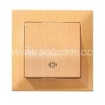 Switch single illuminated Candela beech packaged