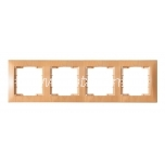 Frame 4-gang Candela beech packaged