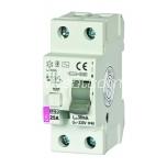 ETI Residual current circuit breaker 1P 2M 25A/30mA 6kA